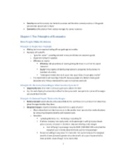 Chapter 5 - Chapter 15 Economics Notes