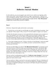 Week 1 Mindset Reflective Journal.docx