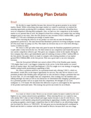 Marketing Plan Details