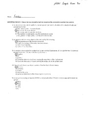 Ph201 Sample Exam Two Solutions_Fixed