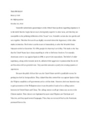Take Home Essay