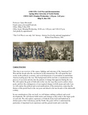 CW_Reconstruction_Spring_2014 Syllabus
