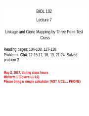 Lecture 7 Biol 102 Spring 2017.pptx