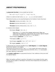 aboutPolynomials
