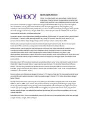 company profile Yahoo dan PEST analysis