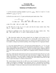 ECON 200 Problem Set 6 Solutions Fall 2007