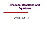 Unit 5 Chemical Reactions and Equations