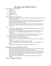 Biology Lab Study Guide 1