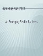 Introduction to Business Analytics_MBA