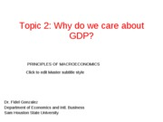 why GDP matters