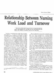 work load and turnover