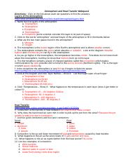 Heat Transfer Webquest Atmosphere And Heat Transfer Webquest Directions Click On The Link Above Each Set Questions To Find The Answers Layers Of The Course Hero