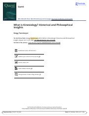 What is Kinesiology Historical and Philosophical Insights.pdf