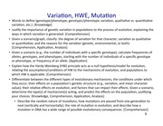 10 BIOL 1001 Mechanisms of Evolution (Variation, HWE) (Jan. 27) post-lect