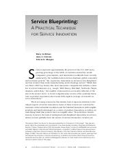 Bitner, M. J., Ostrom, A. L., & Morgan, F.N. (2008). Service blueprinting. A practical technique for