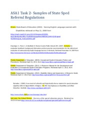 ASA1 task 2 State Sped Referral regulations