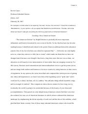 Response Paper 4 - Creating a New American Dream American Renaissance.doc