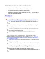 ISA 101 L06 Acquisition Approaches and Development Paradigms Exam.docx