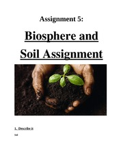 Biosphere and Soil Assignment