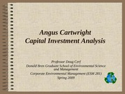 Cartwright Capital Budgeting Real Estate Intro