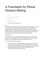 A Framework for Ethical Decision Making.docx