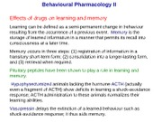 Lecture-28 Behavioural Pharmacology II