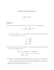 Fall 2008 - Final Solutions