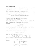 Homework 12 Solution Spring 2013 on Advanced Multivariable Calculus