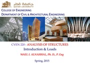 Wael Alnahhal-Analysis of Structures-Introduction