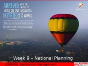 2308HSL - Week 9 - National Planning