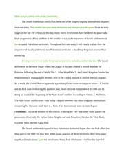 Israeli-Palestinian Conflict Paper