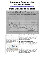 Fed Model and Valuation