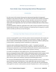 Case study essay Samsung Operations Management.doc