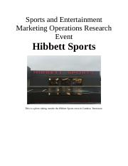 Sports and Entertainment Marketing Operations Research Event
