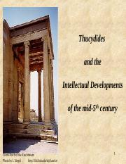 Thucydides & Sophists - May 17