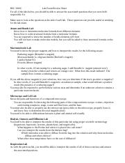 lab exam 1 BSC2010C review sheet.doc