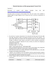 Tutorial Sheet 5 Microprogrammed Control Unit.docx