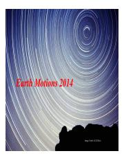 11 Earth Motions 2015