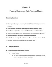 2.Financial Statements, Cash Flows, and Taxes