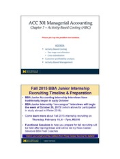 Chapter 7- Activity Based Accounting