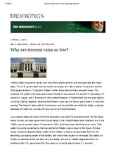 Why are interest rates so low_ _ Bernanke Blog