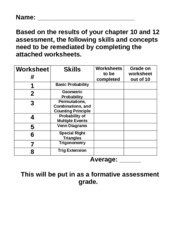 Chapter 10 and 12 remediation