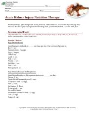 KidneyNutritionTherapy food list