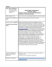 Argumentative Writing Template Body Paragraph 2