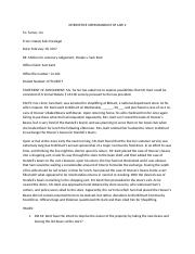 interoffice memorandum of law