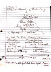 Maslow's Hierarchy of Needs Theory notes