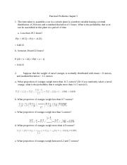 Practical problems chapter 5+ solution