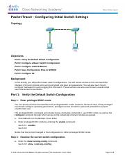 Clagg_Logan_2.2.3.4 Packet Tracer - Configuring Initial Switch Settings.docx