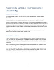 Macroeconomics Accounting