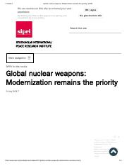 Global nuclear weapons_ Modernization remains the priority _ SIPRI.pdf